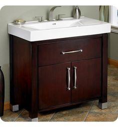 "Fairmont Designs Midtown 30"" Modern Bathroom Vanity in Espresso @ decorplanet.com $1302 with sink"