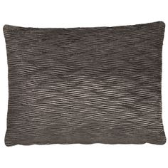 Tempo Wave Charcoal Rectangular Cushion