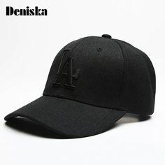 DENISKA Baseball Caps Letter LA Embroidery Hip Hop Outdoor Sports bone  Snapback Hats for Men Women Adjustable gorro masculino 5d62d013ed3