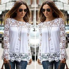 Blusa Renda Fashion 55