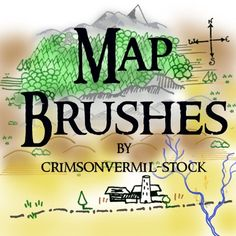 200 Map Photoshop Brushes Free download