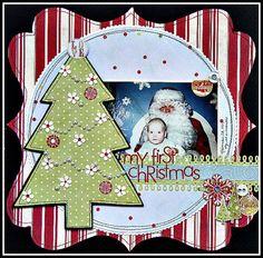 Pinterest Christmas Scrapbooking | Found on twopeasinabucket.com