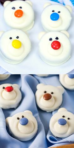 Bear Cookies are fun to make and a great edible craft for the family!Polar Bear Cookies are fun to make and a great edible craft for the family! Bear Cookies, Fun Cookies, Cake Cookies, Bear Cupcakes, Animal Cupcakes, Christmas Deserts, Christmas Appetizers, Christmas Decor, Christmas Cupcakes