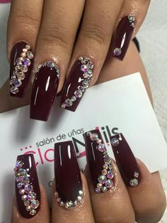 Coffin bling maroon