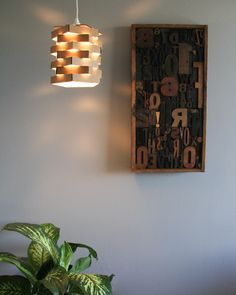DIY Cardboard Pendant Light. #DIY #decor #DIYdecor #pendantlight