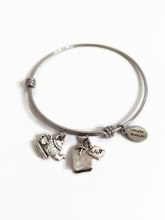 Tea Cup Expandable Bracelet Tea Bag Charm Bracelet Tea Time Charm Bangle Tea Kettle Wire Bangle Stainless Steel Adjustable Wire Bracelet by JulemiJewelry on Etsy