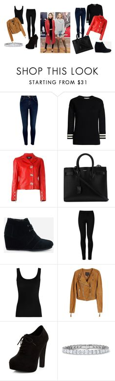 """""""Untitled #94"""" by electraz on Polyvore featuring River Island, Canvas by Lands' End, Versus, Yves Saint Laurent, TOMS, Wolford, Twenty, Paige Denim and New Look"""