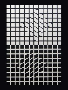 Eridan II, Victor Vasarely, 1956. #pp214figuregrounddisruption