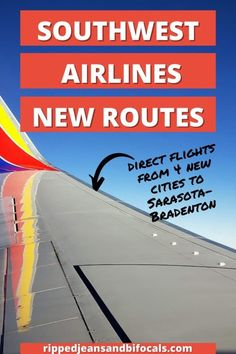 Southwest Airlines new direct flights to Sarasota-Bradenton - Ripped Jeans & Bifocals Adoption Information, Direct Flights, Southwest Airlines, Best Family Vacations, Florida Beaches, Ripped Jeans, Parenting Hacks, Cities, News