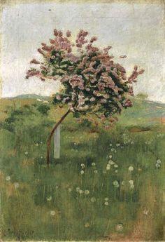 Landscape Painting by Swiss Art Nouveau Artist Ferdinand Hodler