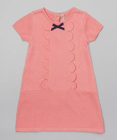 I love the scallops on this dress.Look at this #zulilyfind! Duberry Bow Dress - Toddler & Girls #zulilyfinds