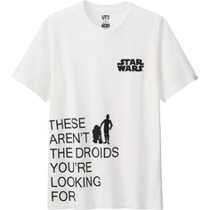 UNIQLO Men's Star Wars Graphic Tee ($15) ❤ liked on Polyvore featuring men's fashion, men's clothing, men's shirts, men's t-shirts, shirts, men, tops, white, mens graphic t shirts and mens t shirts