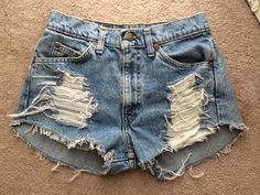 Hey, I found this really awesome Etsy listing at https://www.etsy.com/listing/195602775/high-waisted-denim-shorts-destroyed