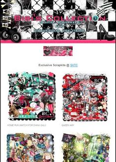 """Ad:New Scrapkits """"Home Run"""",""""Queen Amy"""",& More by Bibi's Collection! http://mad.ly/0f6253"""