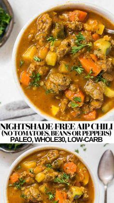 Chili Recipes, Paleo Recipes, Soup Recipes, Cooking Recipes, Anti Candida Recipes, Beans Recipes, Paleo Ideas, Dairy Free Recipes, Shrimp Recipes