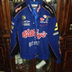 Kellogg's NASCAR jacket In like new condition, worn 2. It's an authentic jacket by chase authentics. Perfect for any nascar or Kellogg's fan. The patches are embroidered into the jacket and NOT sewn on. Jackets & Coats