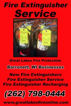 Fire Extinguisher Service Barronett, WI (262) 798-0444We're Great Lakes Fire Protection.. The Main Source for Fire Protection for Wisconsin Businesses. Call Today!  We would love to hear from you.