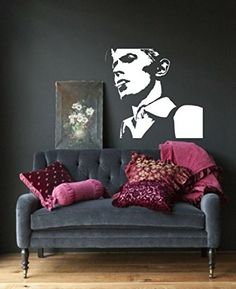 David Bowie Wall Art Sticker Ziggy Musician Decal Songwrite Vinyl Mural WA659, Large 103cm(w) X 95cm(h) Loud Designs http://www.amazon.com/dp/B00LGUP6AM/ref=cm_sw_r_pi_dp_Y3y9wb0VHQMPS