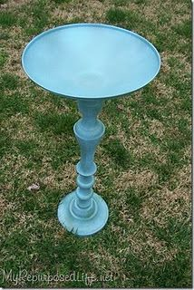 candlestick(s) and lid birdbath