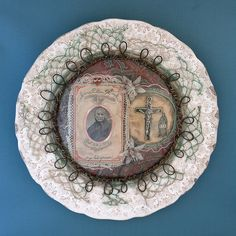 Crucifix, The Swallowing Plates by Lisa Wood, fictional tales of Objects Swallowed and Recovered from the Human Body (read story here: http://www.flickr.com/photos/lisawoodcuriosities/2422044185/).