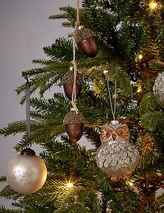 Shatter Proof Rustic Owl Glitter Hanging Christmas Yule Holiday Tree Ornaments