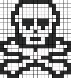 Skull bead pattern