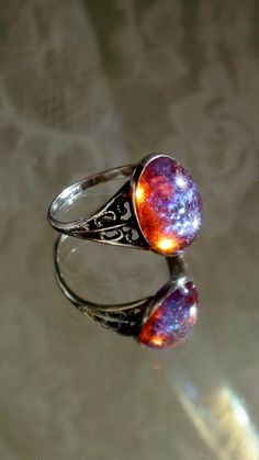 Sterling Dragon's Breath Ring. $57.00, via Etsy.