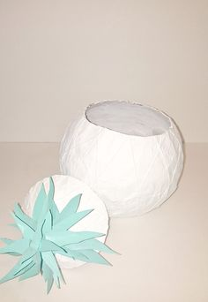 DIY Papier-Mache Pineapple Cookie Jar, a perfect summer time accessory for your kitchen or home!