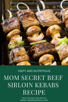 Recipe : Steak Kabobs with Garlic Butter - Web Recipe 4 >> >> >> >> >> >> >> >> >> Kabob Recipes, Spicy Recipes, Grilling Recipes, Easy Healthy Recipes, Gourmet Recipes, Beef Recipes, Cooking Recipes, Easy Grill Recipes, Steak Kabobs