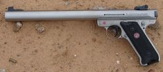 Integrally suppressed Ruger Mark III in .22LR
