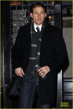 Charlie Hunnam Braves the Cold in New York City! | Charlie Hunnam Photos | Just Jared