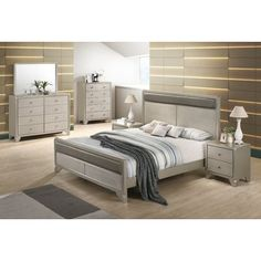 Rosdorf Park Yates Panel 4 Piece Bedroom Set Size: King