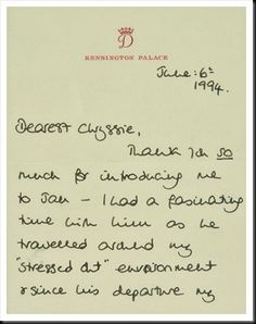 Buckingham suggested that my handwriting and sentence structure needed work?: Princess Diana letter