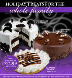 order yours! Cold Stone Creamery, Sugar Rush, Holiday Treats, Caramel, Birthday Cake, Pie, Desserts, Food, Sticky Toffee