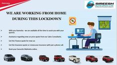 We are Working From Home during this Lockdown. For any queries please feel free to call us we will be there to assist you. Hotline: 9980549494 #SireeshAuto #Mahindra #withyouhamesh #MahindraRise #workfromhome #xuv300 #Thar #Scorpio #bolero #alturas #bangalore #bangalorediaries Finance Quotes, Car Prices, Price Quote, Insurance Quotes, Scorpio, Feelings, Free, Scorpion