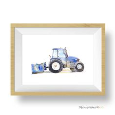 Blue Tractor Print (download)