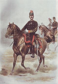 French Army 1900 Artillery Battery Commander by Édouard Detaille