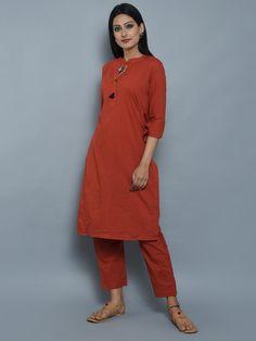 Maroon Cotton Kurta with Multicolor Thread Tassels Indian Suits, Kurtis, Loom, Tassels, Ethnic, Normcore, Teen, Traditional, Cotton