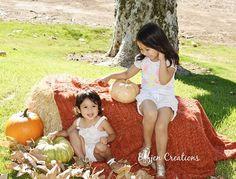 #sisters #kidsphotography #fallshoot #pumpkins