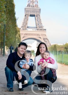 family shot in paris
