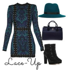 """""""Lace Up"""" by kymomandstuff-1 ❤ liked on Polyvore featuring Balmain, Jimmy Choo, rag & bone and Chanel"""