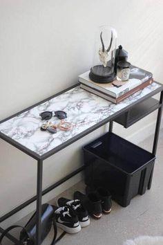 Beautiful Vittsjo Laptop Table Black Brown Glass 2