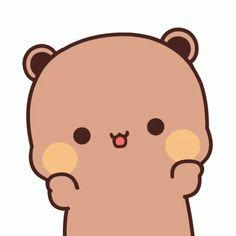 Brown Panda, Panda Gif, Little Panda, Cute Love Cartoons, Seulgi, Mochi, Animated Gif, Nct, Hello Kitty