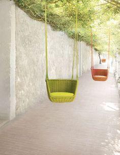 Chaise contemporaine / tapissée / suspendue / en inox ADAGIO by Francesco Rota PAOLA LENTI