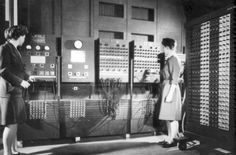 """We're dedicating #TBT to celebrate a top woman pioneer in STEM as inspiration for our #BeTheSparkChallenge: http://bit.ly/1Qpzjix   Meet the amazing Betty Jean Jennings who was one of six women who worked as a """"computer"""" (a job title, not the machine) on the world's first electronic computer for the U.S. Army and the University of Pennsylvania. Here is Jennings (left) preparing for the public unveiling of the machine in February 1946. (Photo: U.S. Army)"""