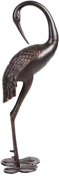 Fire Sense Antique Bronze Female Crane