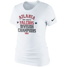 Nike Atlanta Falcons 2012 NFC South Division Champions Ladies Locker Room T- Shirt - White fcf74d01e