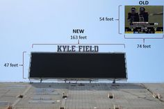 The largest video scoreboard in college sports, only at Kyle Field!