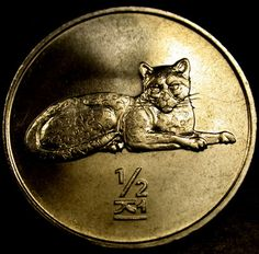 2002 NORTH KOREA 1/2 Chon LEOPARD Coin A BRILLIANT UNC Gem RARE!