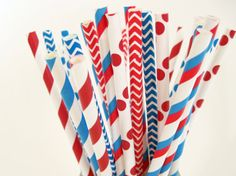 25 Dr. Seuss Red White and Bright Blue Paper